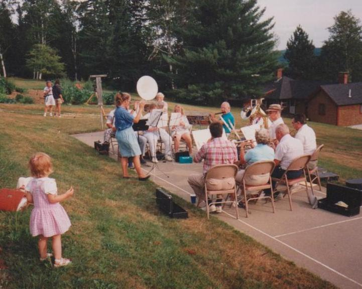 First concert of reincarnated Kearsarge Community Band 27 July 1991, Ragged Mountain Fish and Game Club Gerri Veroneau, conductor